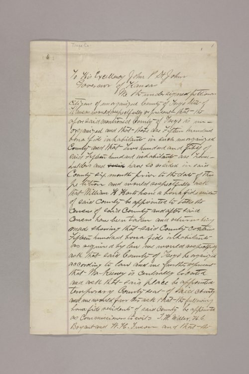 Counties : Trego, petition - Page