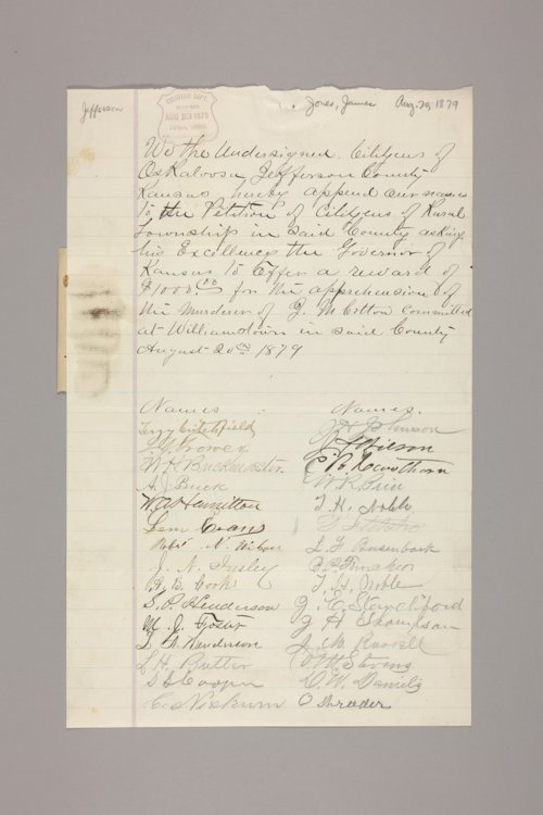 Crime & criminals: reward papers : Jones, James - Page
