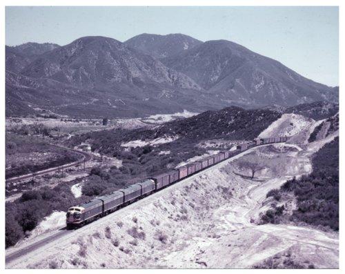 Atchison, Topeka and Santa Fe Railway Company freight train, Cajon Pass, California - Page