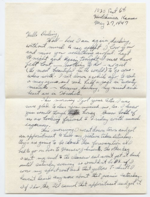 Letters from Don Caldwell, Tulsa, Oklahoma, to Miss Frances Sullivan, Wichita, Kansas - Page