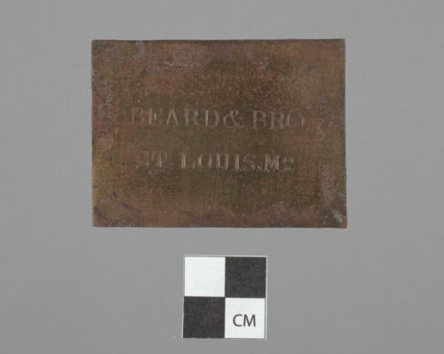 Brass Plate from Fort Zarah, 14BT301 - Page