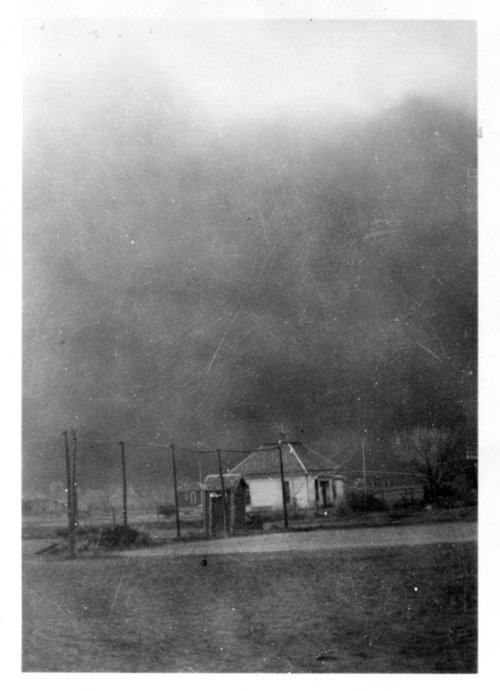 Dust storm, Ransom, Kansas - Page