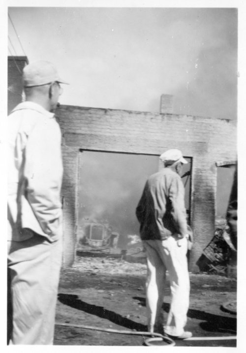 City building fire, Ransom, Kansas - Page