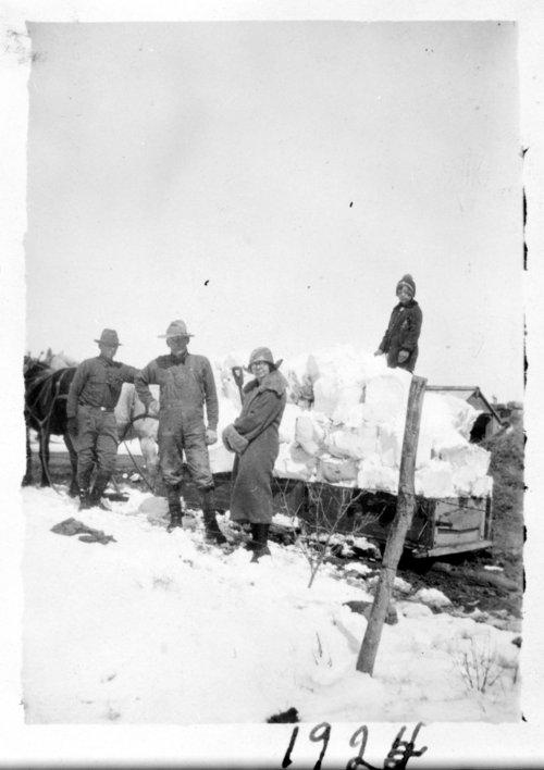 Hauling ice, Ransom, Kansas - Page