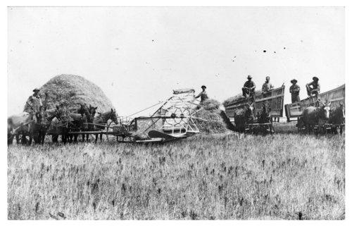 John Schreiber family farming photograph - Page