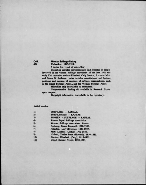 Woman Suffrage history collection - Page