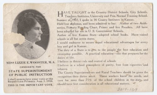 Campaign card for Lorraine Wooster - Page