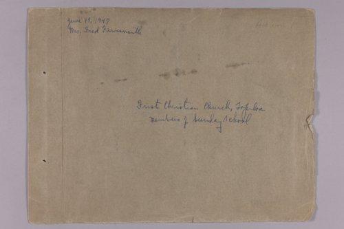 Martha Farnsworth scrapbook #1 - Page