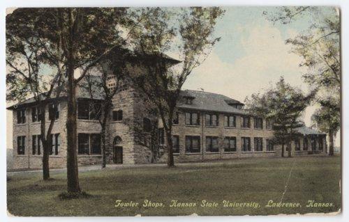 Postcard of Fowler Shops at Kansas State University in Lawrence, Kansas - Page