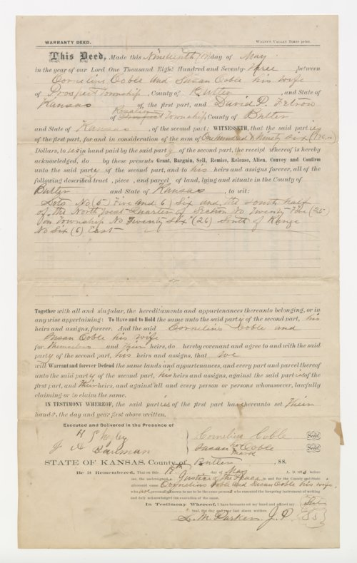 Warranty Deed Butler County - Page