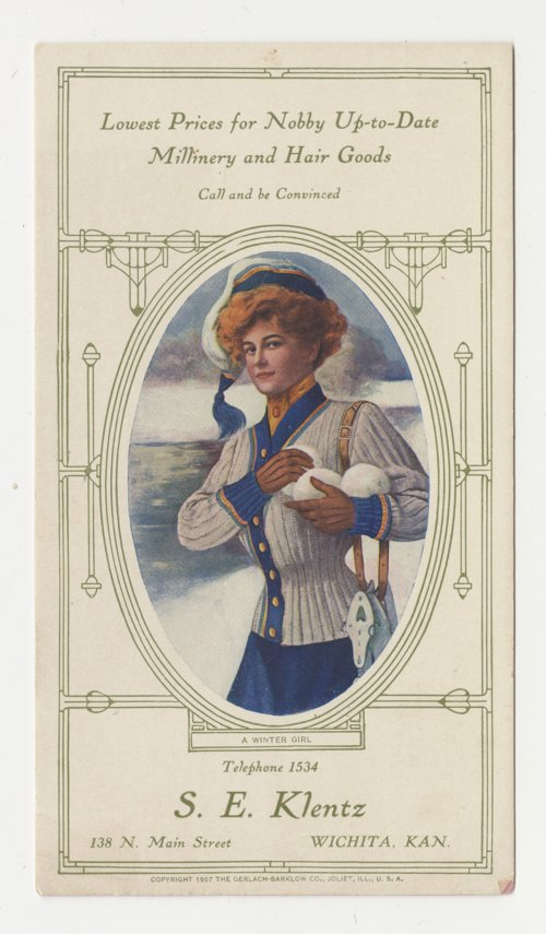 Advertising card for Sophie Klentz of Wichita - Page