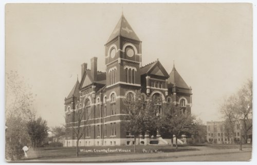 Miami County Courthouse, Paola, Kansas postcard - Page