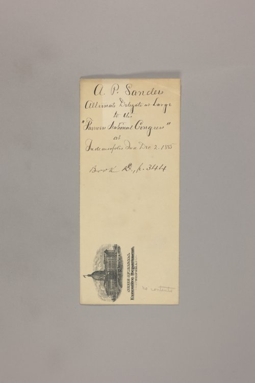 Expositions, Centennials, Conventions; National Farmer's Congress - Page