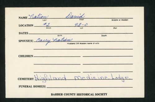 Highland Cemetery interment cards N - Page