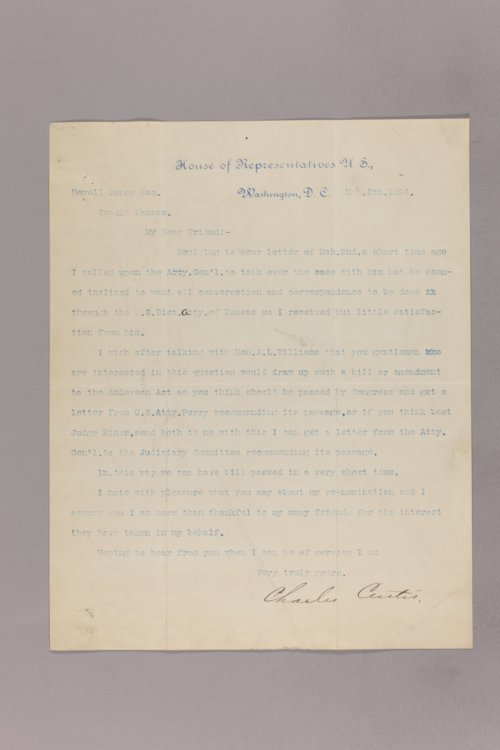 Charles Curits correspondence, 1894 - Page