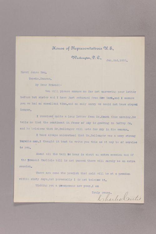 Charles Curtis correspondence, 1895-1896 - Page