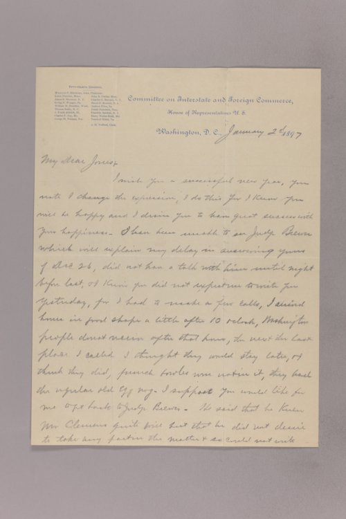 Charles Curtis correspondence, 1897 - Page