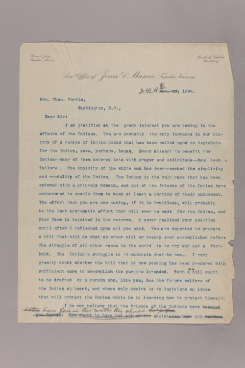 Howel Jones' letters to Charles Curtis - Page