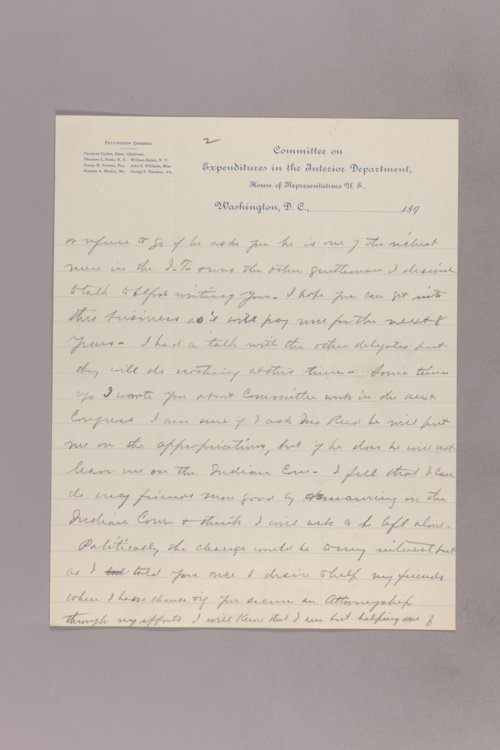 Charles Curtis correspondence, undated - Page