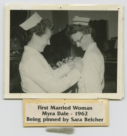 Myra Dale being pinned by Sara Belcher - Page
