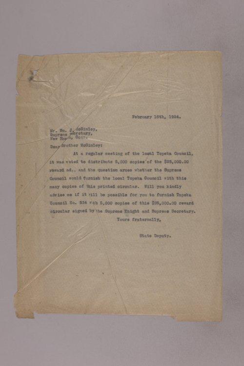 James Malone correspondence, 1924 - Page