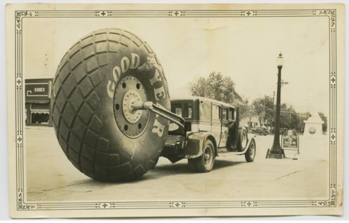 Goodyear advertising truck in Great Bend, Kansas - Page