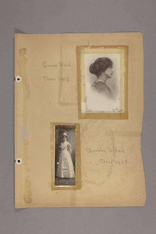 Bertha Jones scrapbook - Page