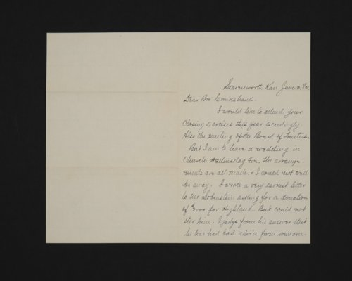 Letter from William Page to Dr. Cruikshank - Page