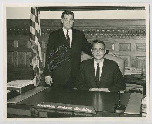Kansas State Reprsentative Roland Hug and Kansas Governor Robert Docking - Page