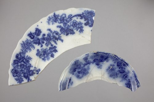 Flow Blue Plate and Saucer from 14CT368 - Page
