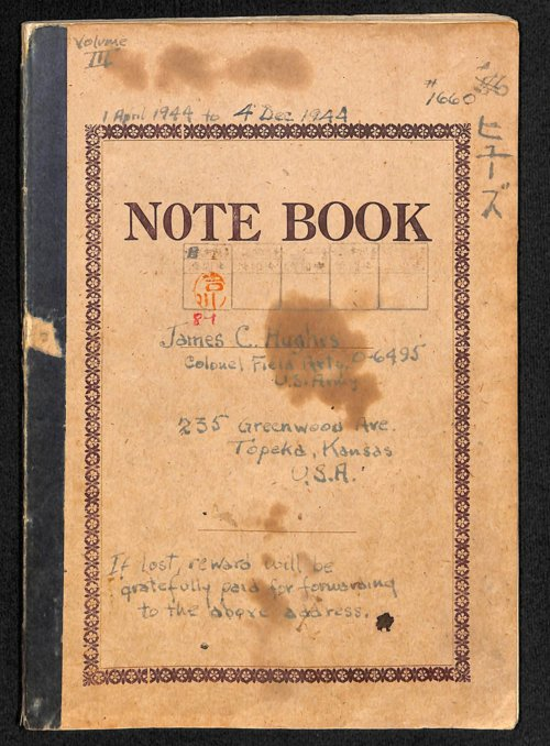 Colonel James C. Hughes diary, volume 3 - Page