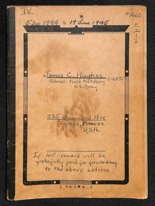 Colonel James C. Hughes diary, volume 4 - Page