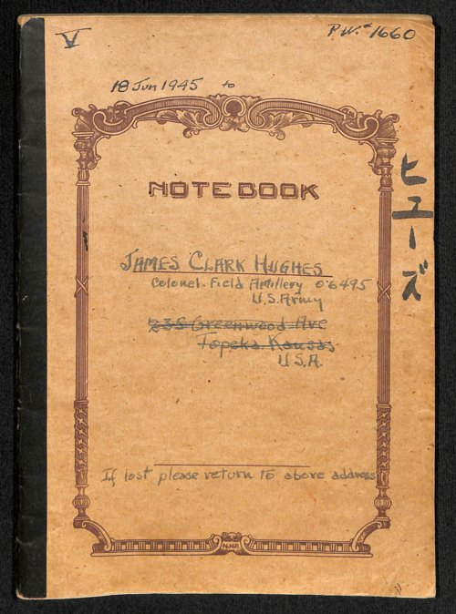 Colonel James C. Hughes diary, volume 5 - Page