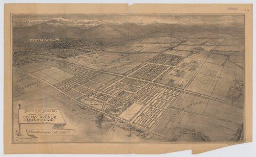 Bird's eye view of Colfax Avenue, Montclaire, near Denver, Colorado - Page