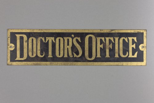 Doctor's office sign - Page