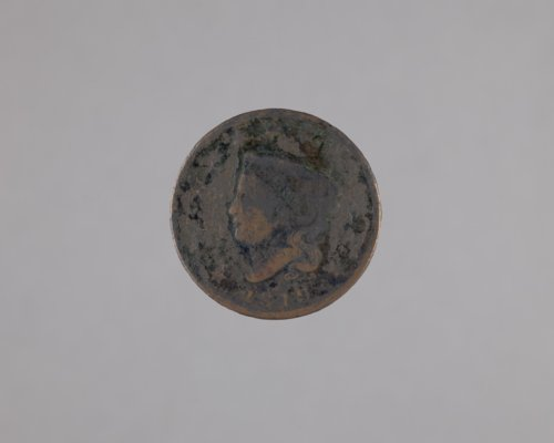 1819 One cent coin from Fort Hays, 14EL301 - Page
