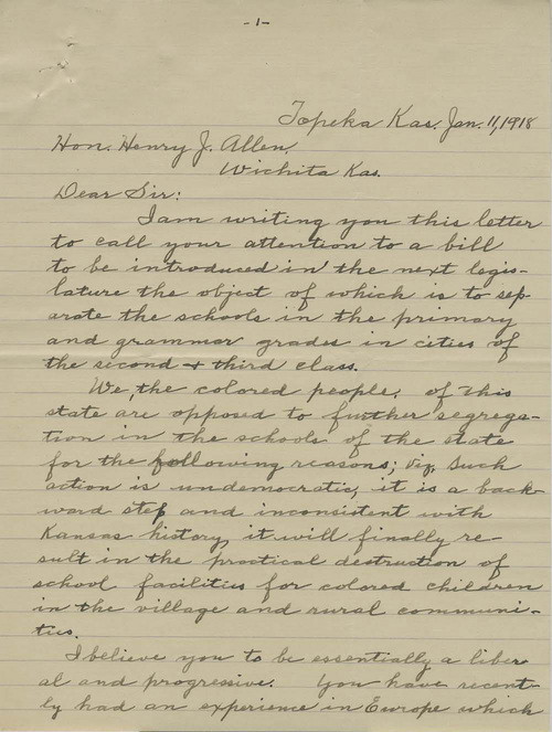N. Sawyer to Governor Henry Justin Allen - Page