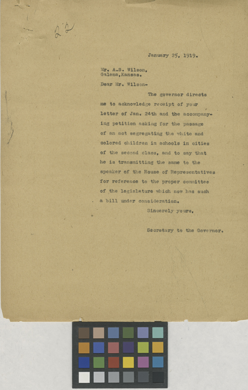 Secretary to the Governor to A. S. Wilson - Page