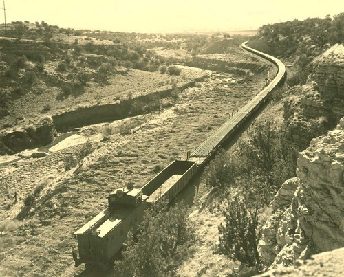 Atchison, Topeka & Santa Fe Railway Company work train, Abo Canyon, New Mexico - Page