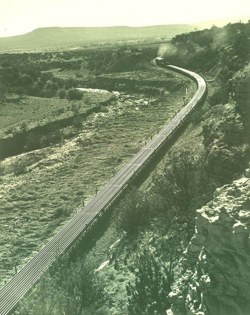 Atchison, Topeka & Santa Fe Railway Company work train, Abo Canyon, New Mexico - Page