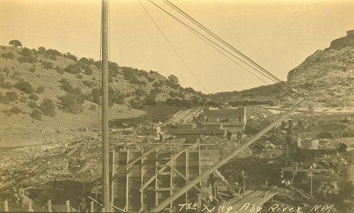 Atchison, Topeka & Santa Fe Railway Company bridge crossing, Abo Canyon, New Mexico - Page
