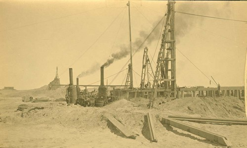 Atchison, Topeka &Santa Fe Railway bridge construction, Abo Canyon, New Mexico - Page