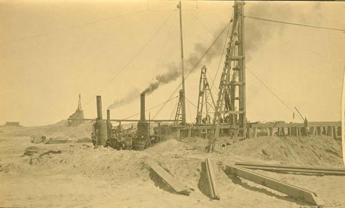 Atchison, Topeka &Santa Fe Railway bridge construction, Abo Canyon, New Mexico - Page
