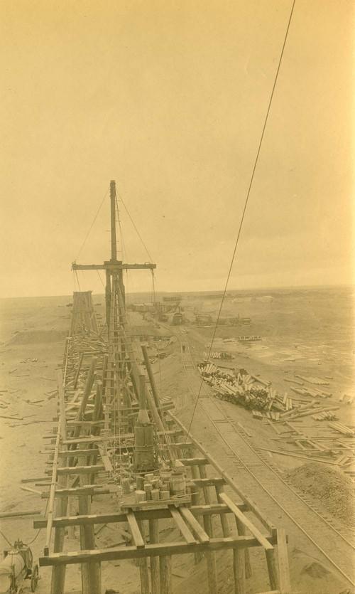 Atchison, Topeka & Santa Fe Railway Company bridge construction, Abo Canyon, New Mexico - Page