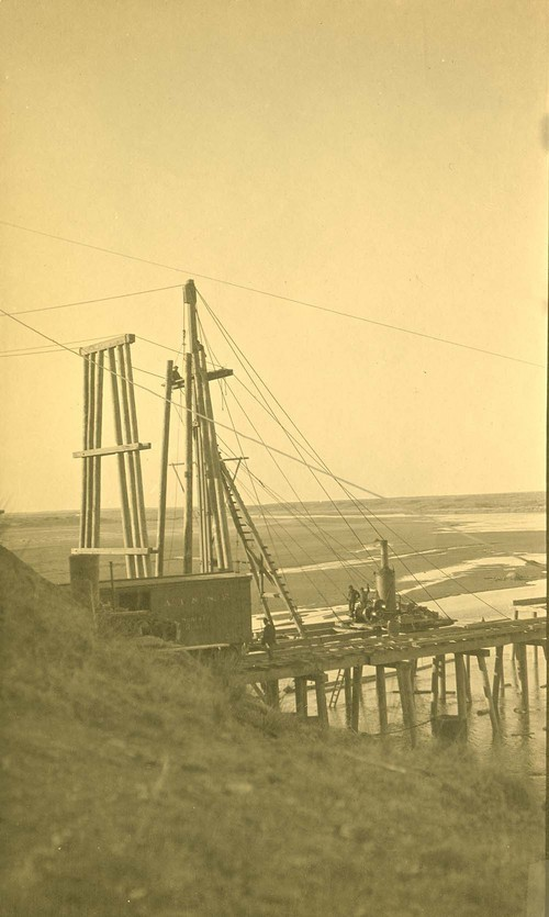 Atchison, Topeka & Santa Fe Railway Company bridge construction, Abo Canyon, New Mexico - Page