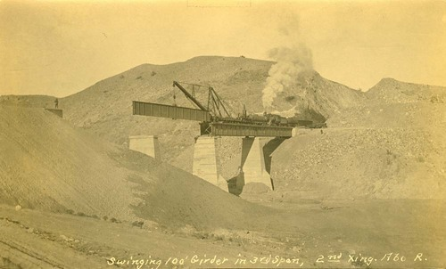 Atchison, Topeka & Santa Fe Railway Company's bridge girder, Abo Canyon, New Mexico - Page