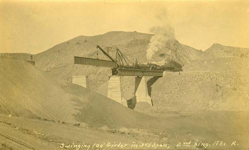 Atchison, Topeka & Santa Fe Railway Company's bridge girder, Abo Canyon, New Mexico - Page