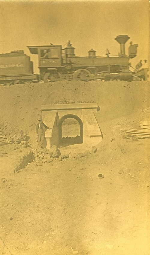 Lantry-Sharp Construction Company locomotive, Abo Canyon, New Mexico - Page