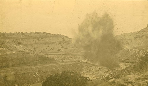 Blasting to enlarge a channel, Abo Canyon, New Mexico - Page
