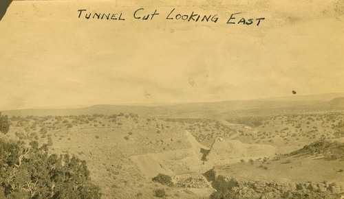 Railroad tunnel cut looking east, Abo Canyon, New Mexico - Page